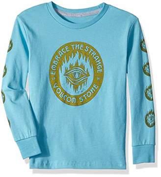 Volcom (ヴォルコム) - [ボルコム] [ キッズ ] 長袖 プリント Tシャツ (ベーシックフィット) [ Y3641831 / Hot Visions LS T Kids ] かわいい 子供服 BRB_ブルー US 4T (日本サイズ110 相当)