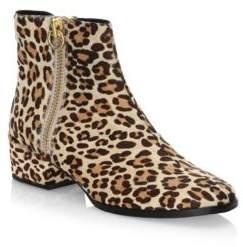 Joie Rubee Leopard-Print Calf Hair Booties