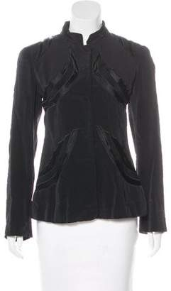 Giorgio Armani Satin-Trimmed Structured Jacket