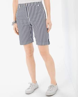 Chico's Chicos Comfort Waist Luxe Utility Striped Shorts