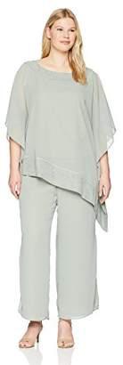 Le Bos Women's Size Poncho 2 pc Pant Set Plus