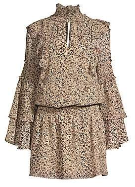 Parker Women's Eliana Animal Print Blouson Dress