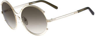 Chloé Isidora Wire-Rimmed Sunglasses