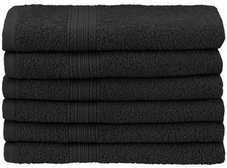 Ringspun Superior Eco-Friendly 100% Cotton 6-Piece Hand Towel Set