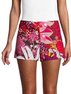 Trina Turk Found In Translation Corbin Floral-Print Shorts