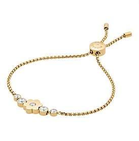 Michael Kors Flower Power Gold Tone Slider Bracelet