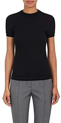 Helmut Lang Women's Cotton Textured-Knit Crewneck Shirt