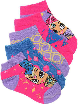 Nickelodeon Shimmer & Shine Kids No Show Socks - 5 Pack - Girl's