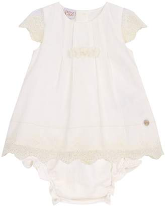 Paz Rodriguez Embroidered Dress with Bloomers