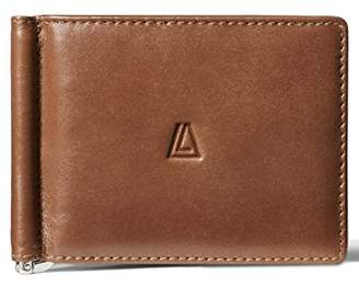 LEATHER ARCHITECT-Men's 100% Leather Bifold Flapover RFID Wallet with money clip- 2 Tone