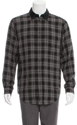 Alexander Wang Classic Black Embroidered Causal Shirt