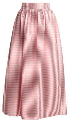 Mara Hoffman Katrine Cabana Stripe Skirt - Womens - Red White