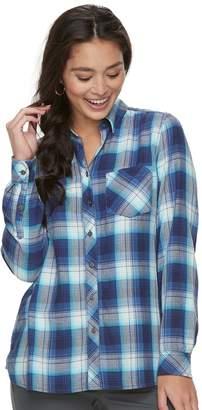 Sonoma Goods For Life Petite SONOMA Goods for Life High-Low Plaid Shirt