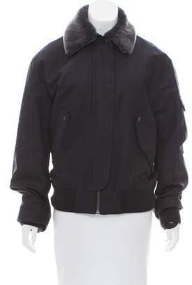 Helmut Lang Fur Bomber Jacket w/ Tags