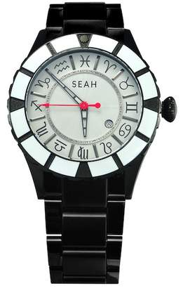 Seah Designs Men's Astronomer Stainless Steel Watch, 46mm