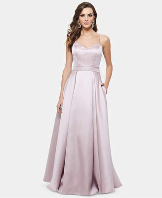 Xscape Evenings Bow-Back Satin Gown