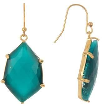 Panacea Green Hexagon Drop Earrings