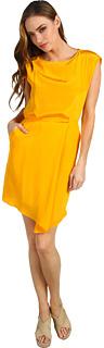 Tibi Solid Silk Drape Dress