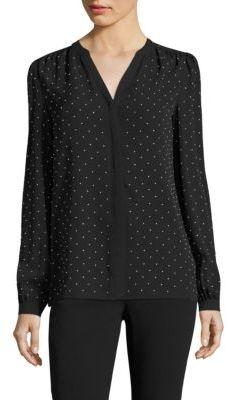 Michael Kors Collection Studded Silk Blouse