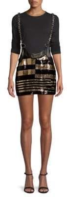 Sequined Suspender Skirt