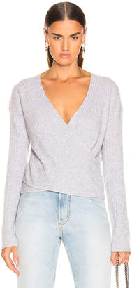 Jonathan Simkhai Cashmere Wrap Sweater in Heather Grey | FWRD
