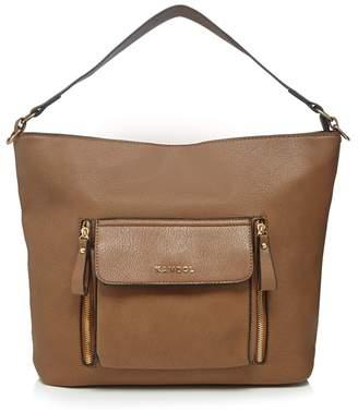 Kangol Tan Large Pocket Shoulder Bag