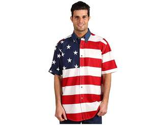 Roper Stars Stripes Pieced Flag Shirt S/S