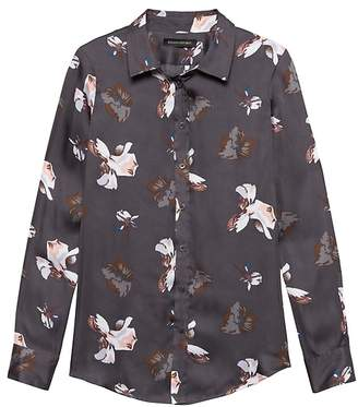 Banana Republic Petite Dillon Classic-Fit Floral Shirt