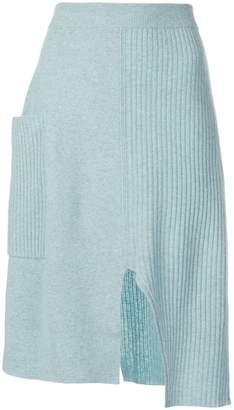 Pringle asymmetric knitted skirt