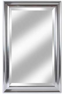 Alpine Art & Mirror Concept Silver 26.5 x 41.5 Beveled Glass Wardrobe Mirror