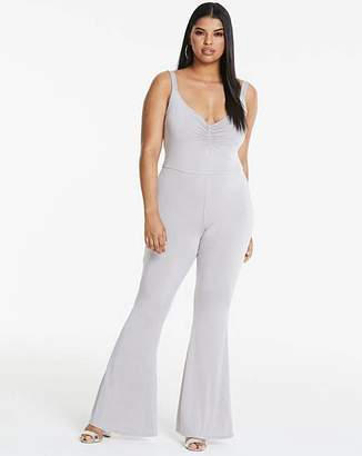 567777be9458 Silver Simply Be Edited By Amber Rose Silver Slinky Jumpsuit