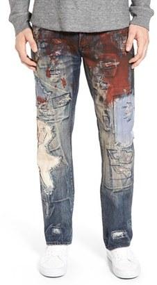 Men's Prps 'Barracuda' Destroyed Straight Leg Jeans $425 thestylecure.com