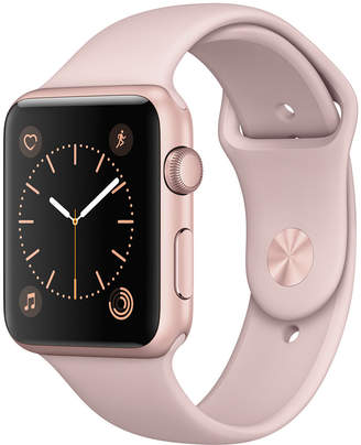 Apple Watch Series 1 42mm Rose Gold Aluminum Case with Pink Sand Sport Band $299 thestylecure.com