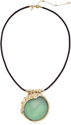 Alexis Bittar Crystal Studded Sculptural Sphere Ivory Pendant Necklace