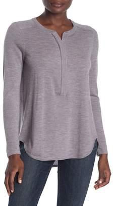 Kinross Cashmere Zip Henley Sweater