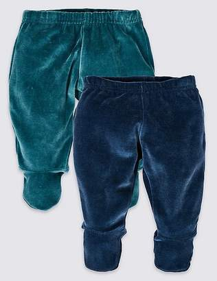 Marks and Spencer 2 Pack Cotton Rich Velour Crawlers