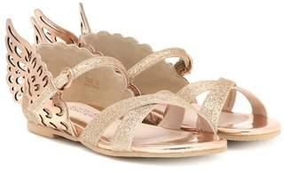 Sophia Webster Mini Evangeline glitter sandals