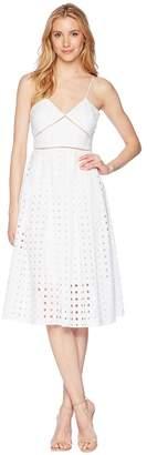 Donna Morgan Spaghetti Strap Eyelet Midi Dress Women's Dress