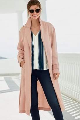 Next Womens Pink Plissé Duster