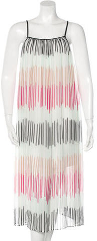 Alice + Olivia Alice + Olivia Striped Silk Dress