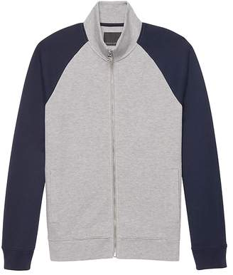 Banana Republic Moisture-Wicking Color Block Full-Zip Sweatshirt Jacket