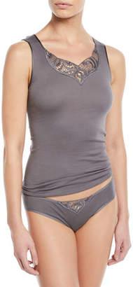 Hanro Ella Seamless Lace-Inset Bikini Briefs