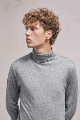 French Connenction Wool Jersey Roll Neck Top
