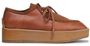 Stella McCartney Faux Leather And Suede Platform Brogues