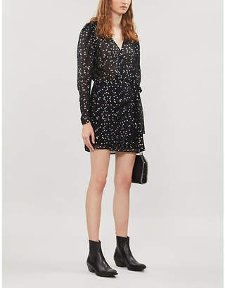 The Kooples Star-print crepe dress