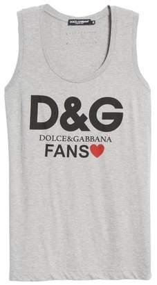 Dolce & Gabbana Fans Graphic Jersey Tank Top