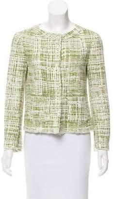 Prada Collarless Tweed Jacket