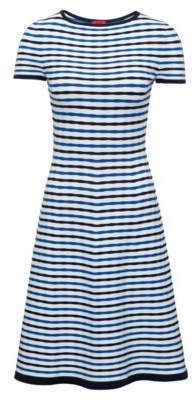 HUGO Boss Striped A-Line Dress Sawnia M Patterned