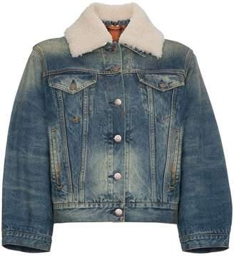 Gucci Lion Motif Denim Jacket