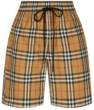 Burberry Check Printed Shorts